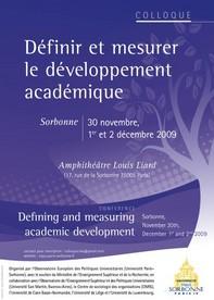 Colloque sur le développement académique
